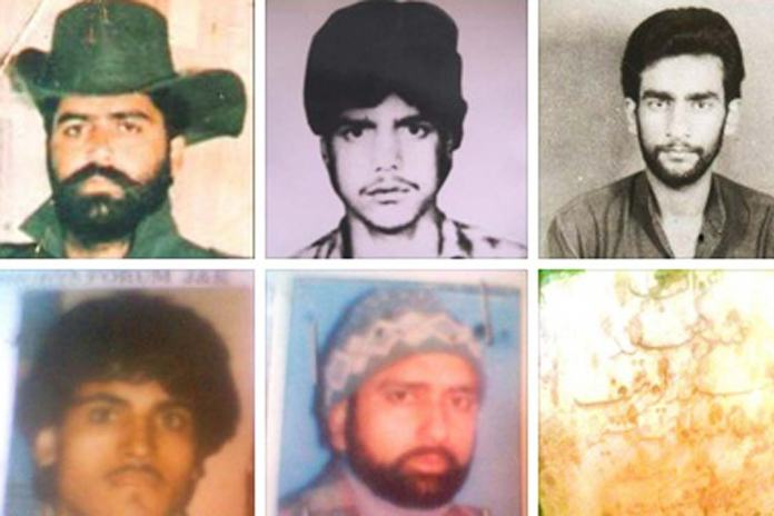 Portraits of those who fell to the barrage of bullets from CRPF 24 years ago.