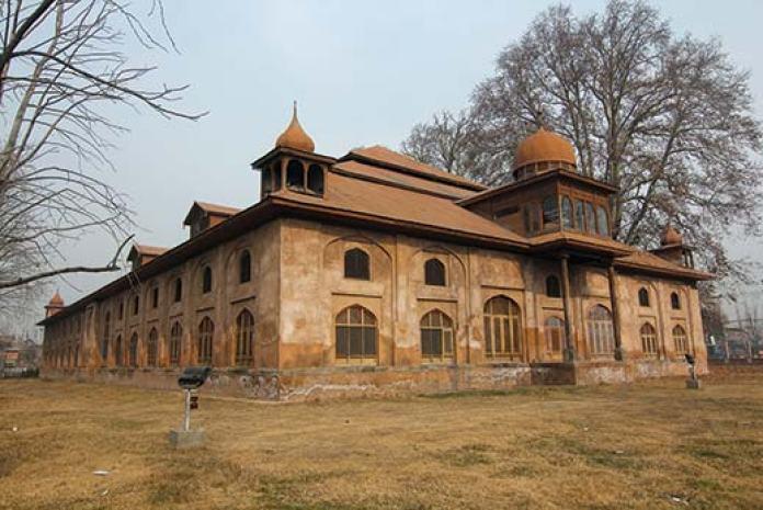 Historic Aali Masjid in Srinagar. Pic: Bilal Bahadur