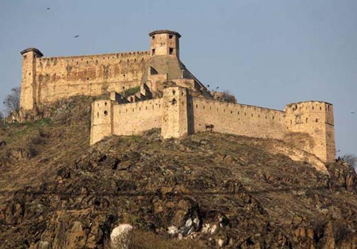An outside view of Koh-i-Maran fort in Srinagar. Pic: Bilal Bahadur