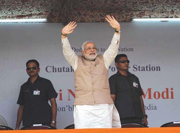 Narendra Modi during his recent trip to Ladakh.