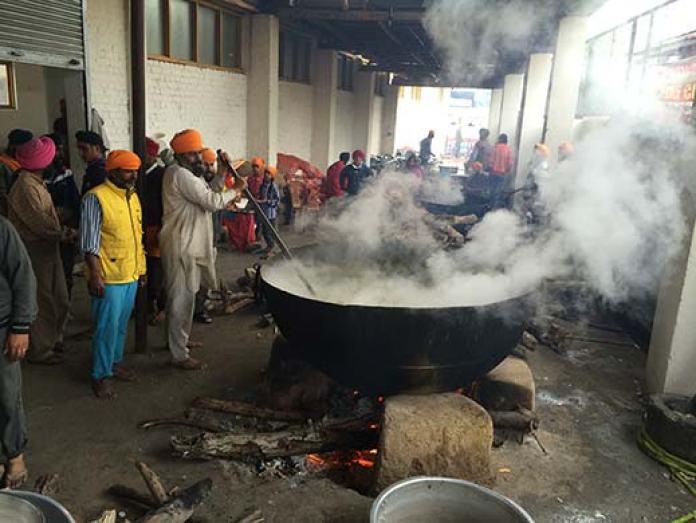 Community Kitchen inside the Gurudwara.