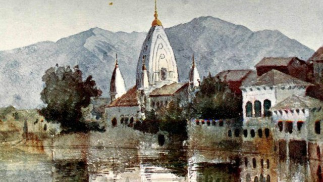 Painting depicting 1905 floods