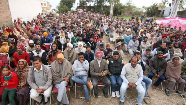 People listening to PDP patron Mufti Muhammad Sayeed in a rally in Jammu on Sunday.