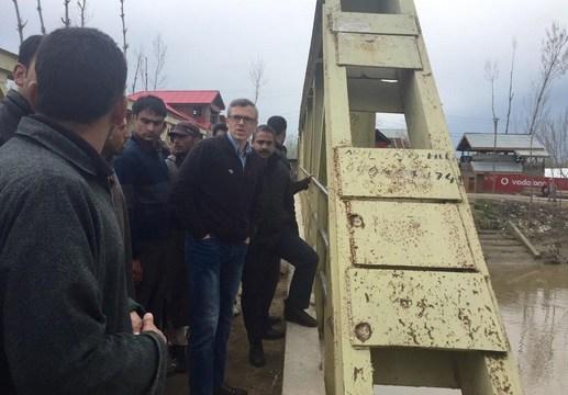 Omar Abdullah on his visit to Beerwah