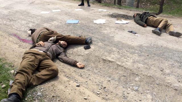 Three policemen killed in Shopian.