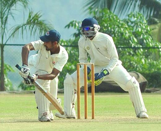 In action Wasim Raza during one of the Ranji Matches.