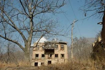 In Kashmir,  abondoned pandit house.