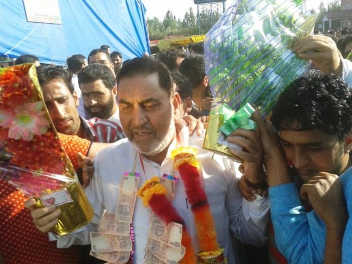 Mir Mohammad Amin, elected as President Shopina Fruit Mandi. (Photo: Sheikh Hilal/KL)