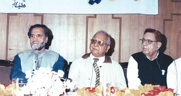 From L to R, Abdul Gani Lone, Ved Bhasin, KD Sethi.