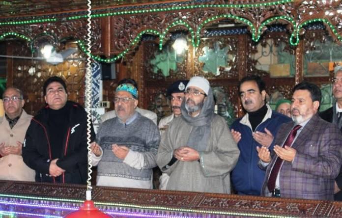 Altaf Bukhari Praying for CM's Health