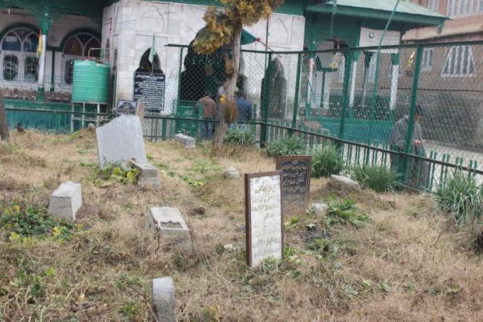 The ancestral graveyard of late CM Mufti Mohammad Sayeed where he is being laid to rest.