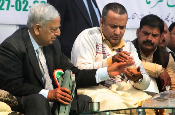 CAPD Minister Chowdhary Zulfkar Ali with former CM, late Mufti Mohammad Sayeed in this KL file Image.