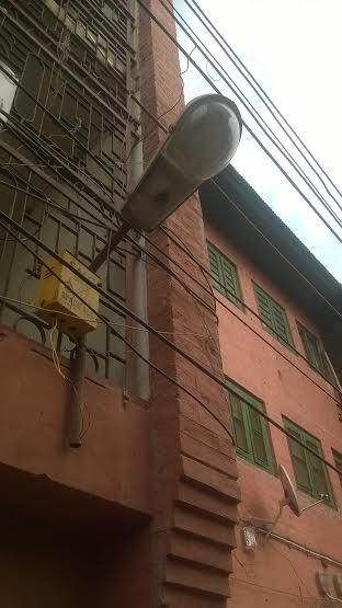 The Street Light in Press enclave, Srinagar.