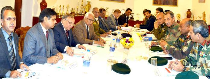 Vohra Chairing Security Meet