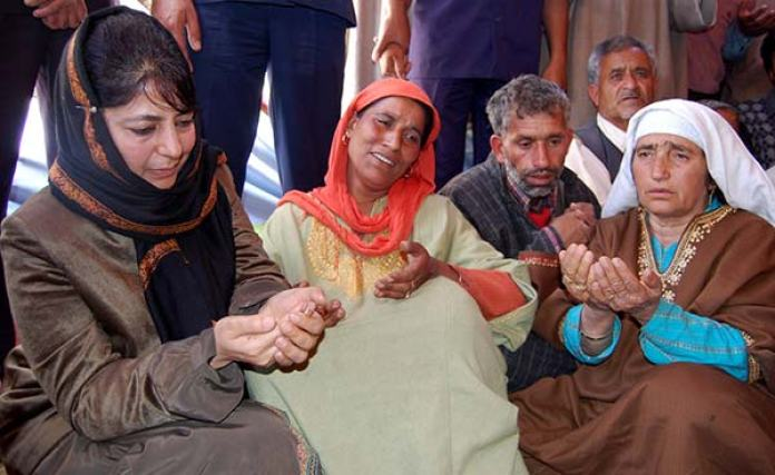 To grieve, Mehbooba would join families whose kith and kin were consumed by conflict.