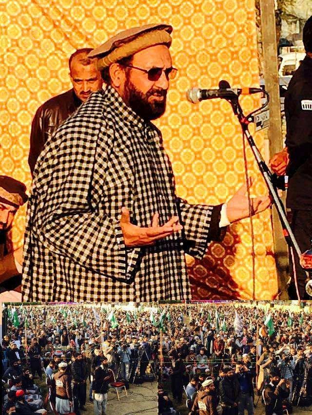 Deputy Amir of Jama'at-e-Islami Pakistan addressing a rally in Islamabad on 'K-Solidarity day on Friday.