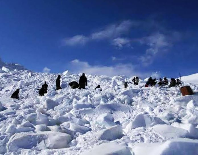 The rescue operation in Siachen early this year when ten army men lost their lives in snow avalanche.