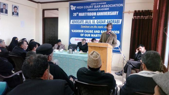 Bar Seminar on Adv Jaleel Andrabi