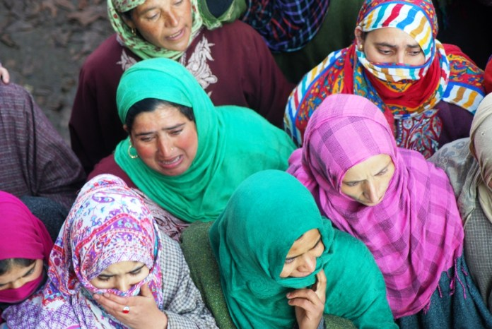 Women mourners at Dawood's funeral.