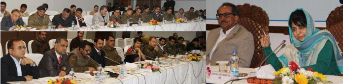 CM Mehbooba Mufti's first official meeting in SKICC in Srinagar