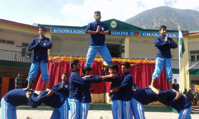 A martial Art Camp for boys at Army Public School Pahalgam on 18 Oct 2015 (Sunday.) (KL Image: PRO Defence Srinagar)