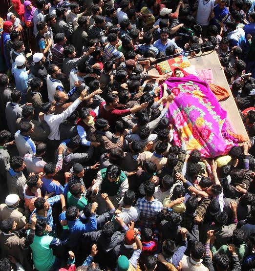 Funeral of militants killed on May 07, 2016 in Pulwama photo by Bilal Bahadur 2