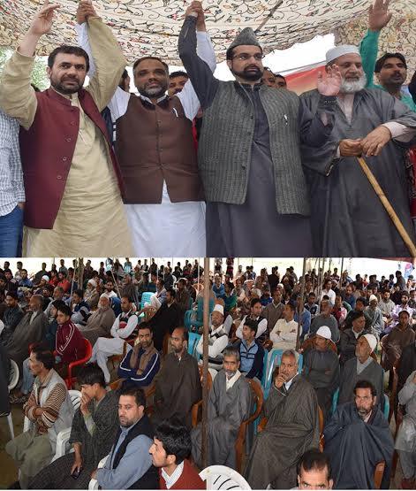 Mirwaiz Umar Farooq at Singhpora on May 24, 2016