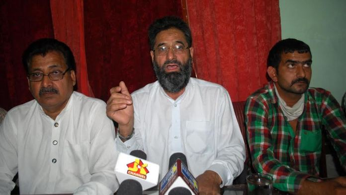 Mohammad Sharief Sartaj speaking at presser in Jammu on May 26, 2016.