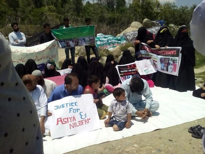 Shopian Double Rape and Murder Protest by victim family and locals on May 30, 2016