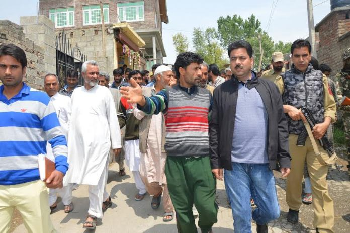 Zahoor Mir in Pampore on May 05, 2016