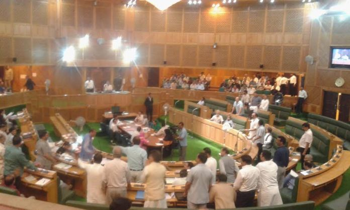 The Lawmakers from ruling parties created hue and cry over non-availability of accommodation in Lower House on June 22, 2016.