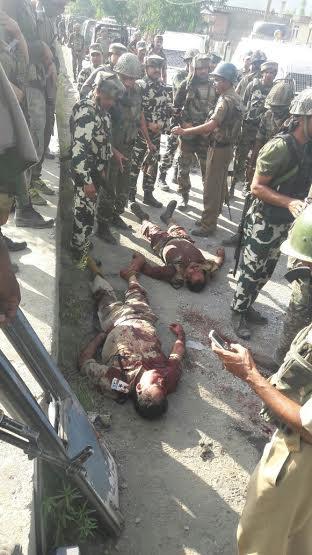 The dead CRPF men in Pampore.