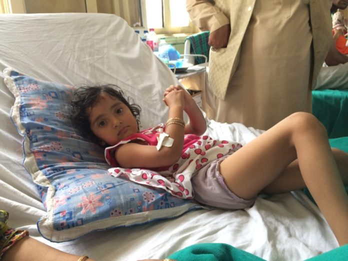 Representational Photo: Five-year old Zohra admitted in SMHS after hit by pellets.