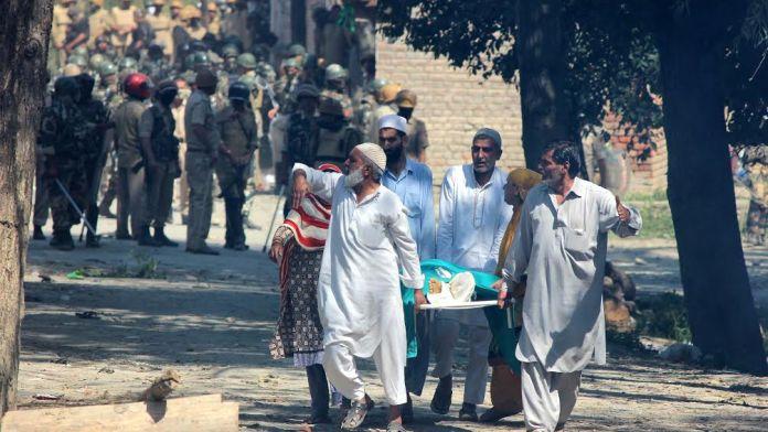 Funeral slain Yawar Ahmad Dar. (KL Image: Shah Hilal)