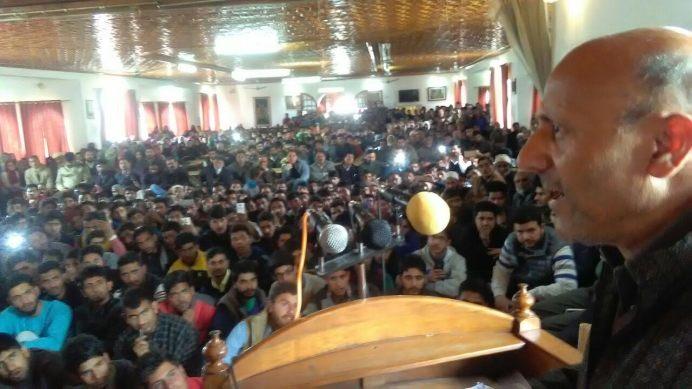 Rasheed addressing the gathering.