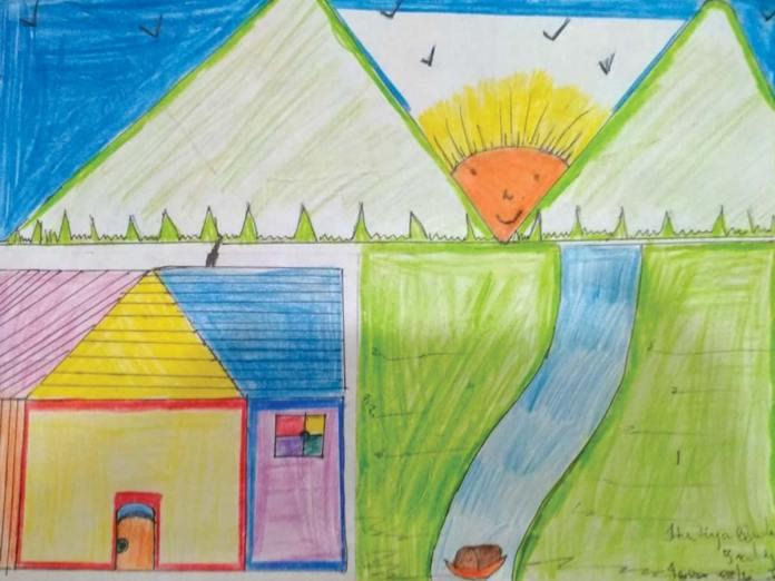 Artwork by Hadiya Qadri - Young Life - Kashmir
