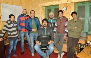 Kashmir Life Staffers - Left to Right: Fayaz Ahmad, Suhail Sultan, Shams Irfan, Mohammad Raafi, Bilal Handoo, Riyaz-ul-Khaliq & Abdul Majeed Khan.
