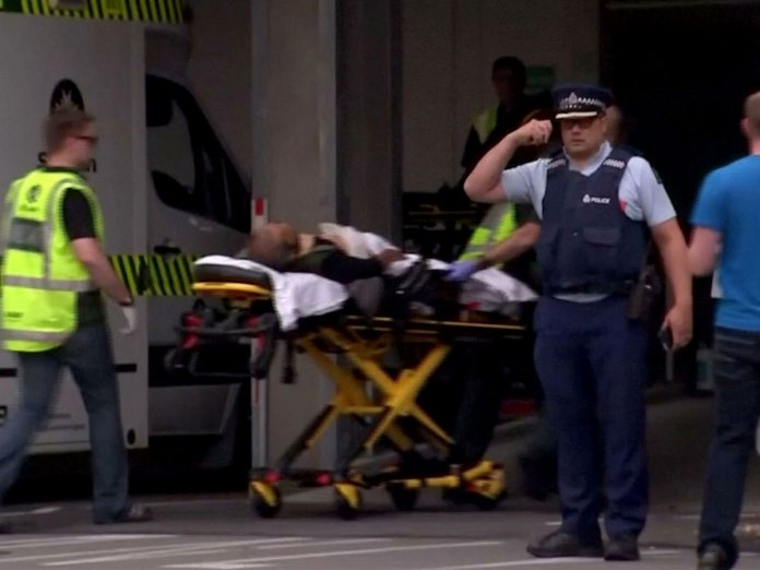 File photo of the injured in Christchurch Mosque attack.