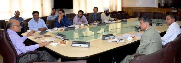 Chief Secretary B V R Subrahmanyam on Thursday chaired the meeting of the Executive Committee of Kashmir Golf Club in Civil Secretariat, Srinagar.