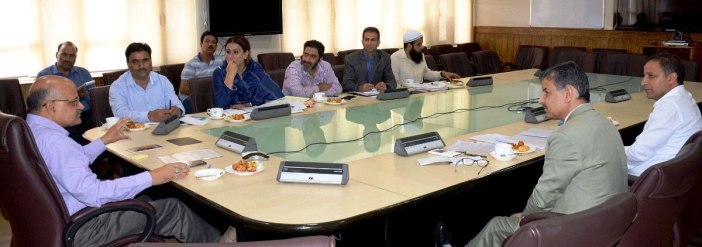 Chief Secretary B V R Subrahmanyam on Thursday chaired the meeting of the Executive Committee of Kashmir Golf Club in Civil Secretariat, Srinagar.