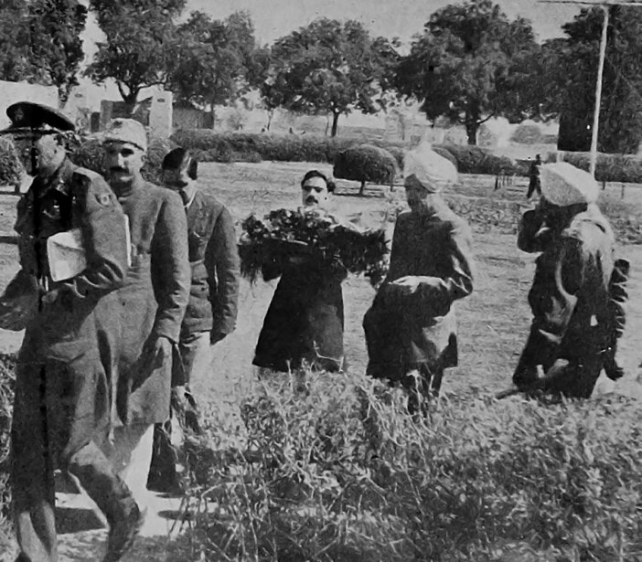Gandhi's mortar remains being taken to Kashmir by the then Deputy Prime Minister Bakshi Ghulam Mohammad, a photograph taken at the Delhi airport.