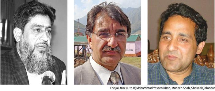 KL-The jail trio (L to R)Mohammad Yaseen Khan, Mubeen Shah, Shakeel Qalandar