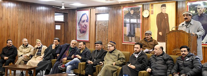 First meeting of National Conference leaders in Srinagar since August 5.
