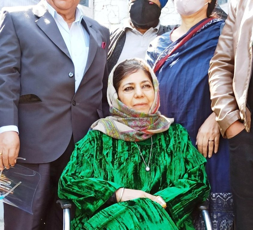 """PDP chief Mehbooba Mufti released after 14 months of detention"""""""