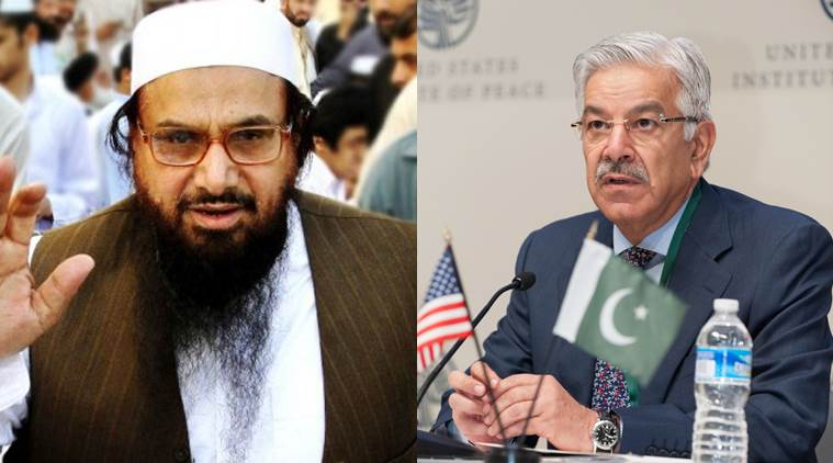 Hafiz Saeed sends defamation notice to Khawaja Asif