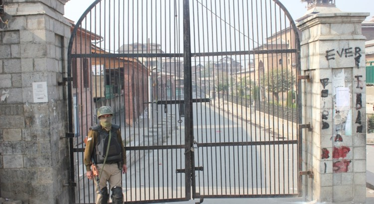IN PICTURES: Restrictions in parts of Srinagar