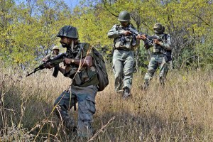 Troops Airdropped at Gangabal Forest in Kashmir