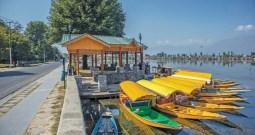 Scores Of Shikaras On Dal Lake Without Any Work