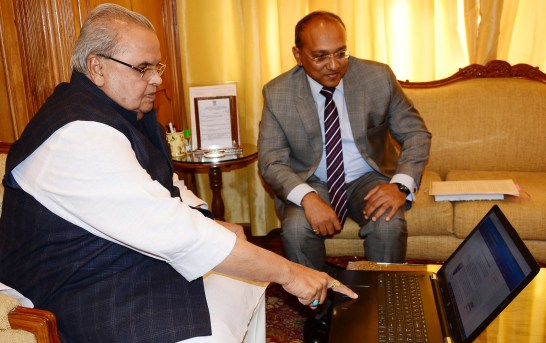 Governor Launches ACB Website in Internetless Kashmir