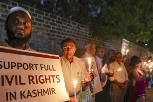 In Solidarity With Kashmiris: Candlelight Vigil In Gujarat